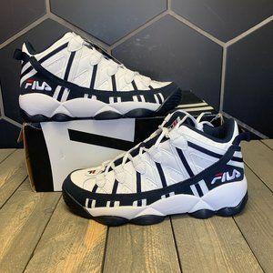 Fila Stackhouse Spaghetti White Navy Sneaker Sz 9